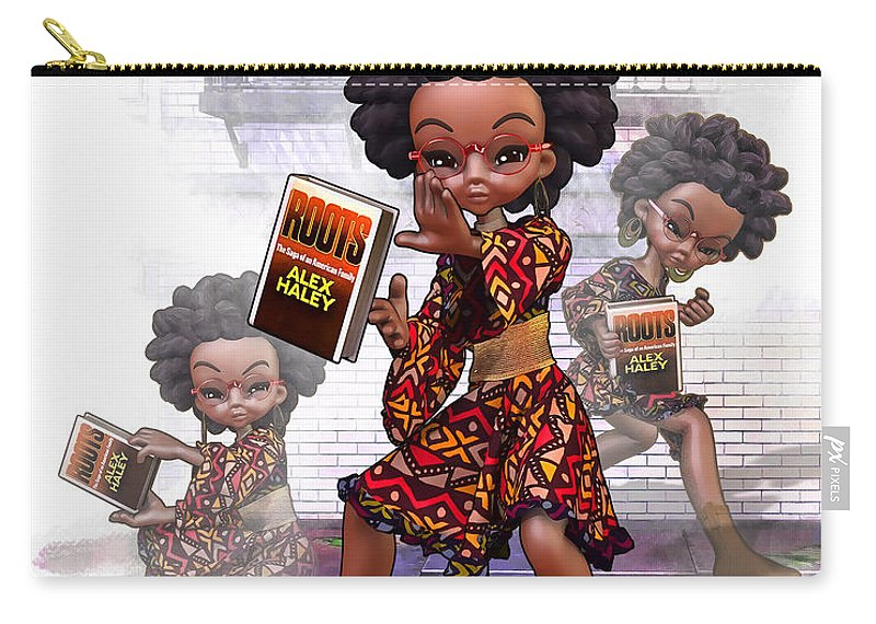 African-american Carry-all Pouch featuring the digital art Defensive Moves by Darryl Crosby