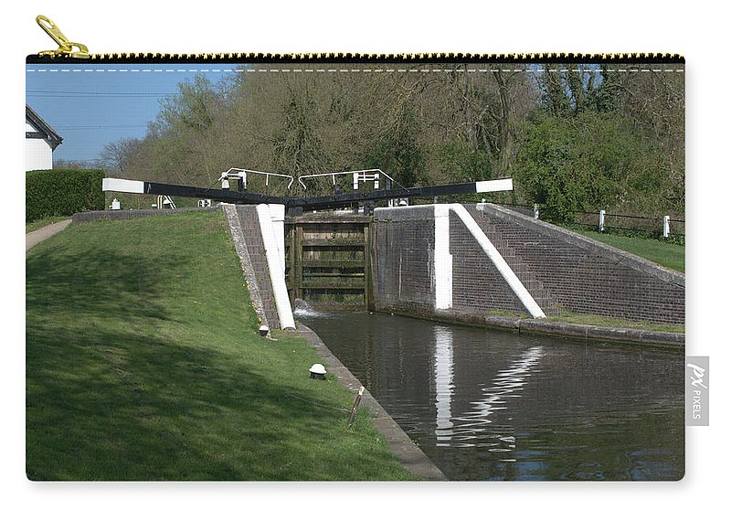 Denham Deep Lock Carry-all Pouch featuring the photograph Denham Deep Lock by Chris Day