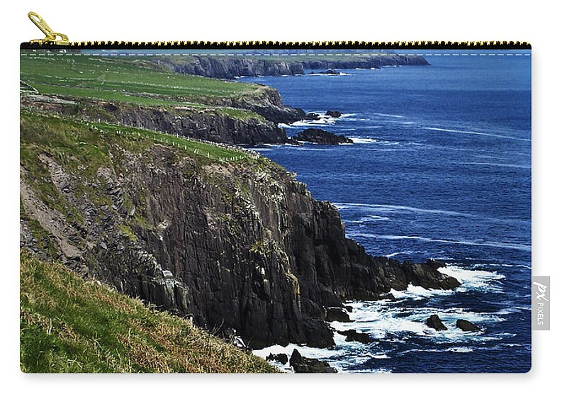 Irish Carry-all Pouch featuring the photograph Dingle Coastline Near Fahan Ireland by Teresa Mucha
