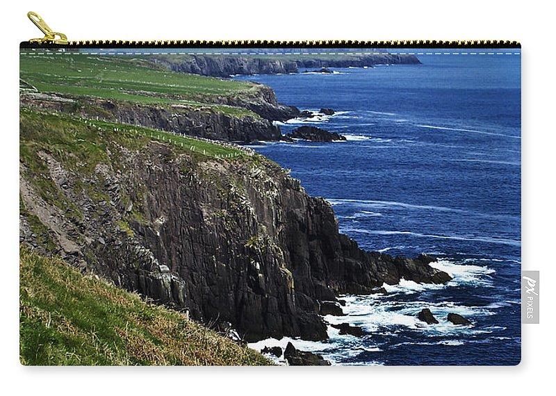 Irish Carry-all Pouch featuring the photograph Dingle Coastline Near Fahan Ireland by Teresa Mucha