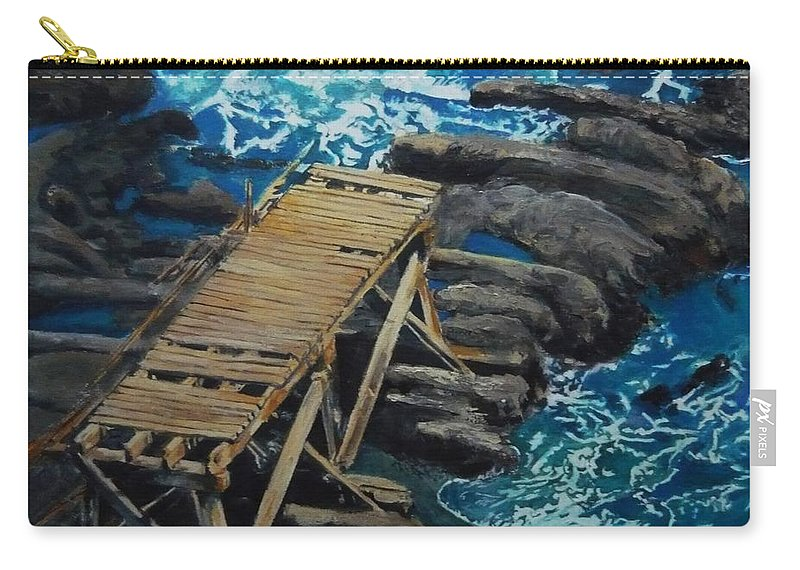 Dock Carry-all Pouch featuring the painting Dock by Travis Day