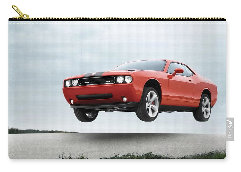 Dodge Challenger Srt8 Carry-all Pouch featuring the photograph Dodge Challenger Srt8 by Jackie Russo