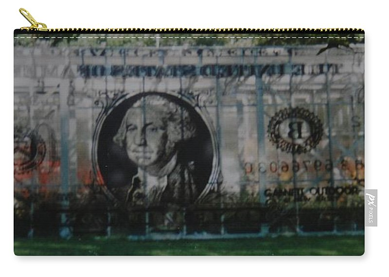 Park Carry-all Pouch featuring the photograph Dollar Bill by Rob Hans