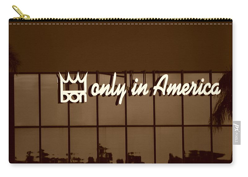 Sepia Carry-all Pouch featuring the photograph Don King Only In America by Rob Hans