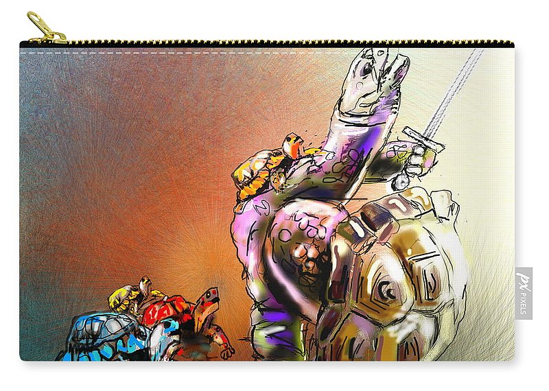 Turtle Painting Carry-all Pouch featuring the digital art Don by Miki De Goodaboom