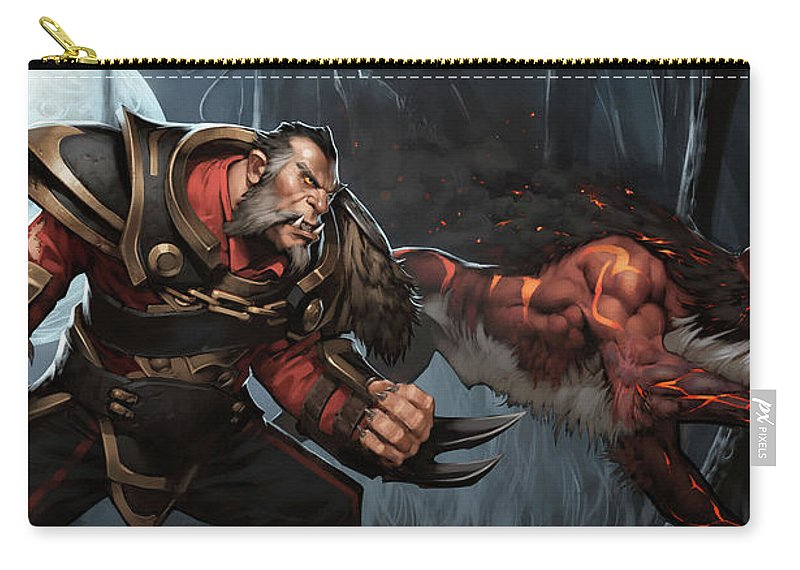 Dota 2 Carry-all Pouch featuring the digital art Dota 2 by Dorothy Binder