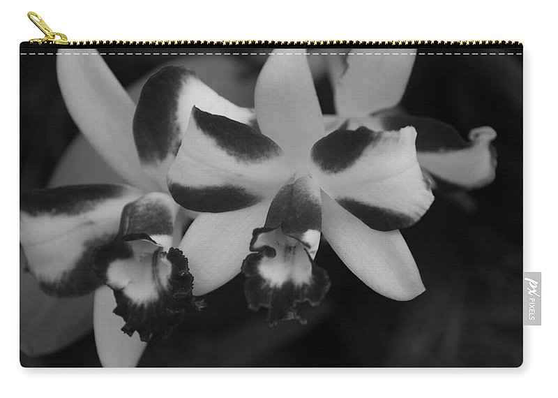 Macro Carry-all Pouch featuring the photograph Double Orchid by Rob Hans