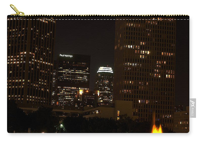Clay Carry-all Pouch featuring the photograph Downtown L.a. In Hdr by Clayton Bruster