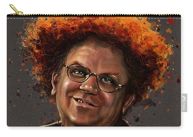 Dr. Steve Brule Carry-all Pouch featuring the painting Dr. Steve Brule by Fay Helfer