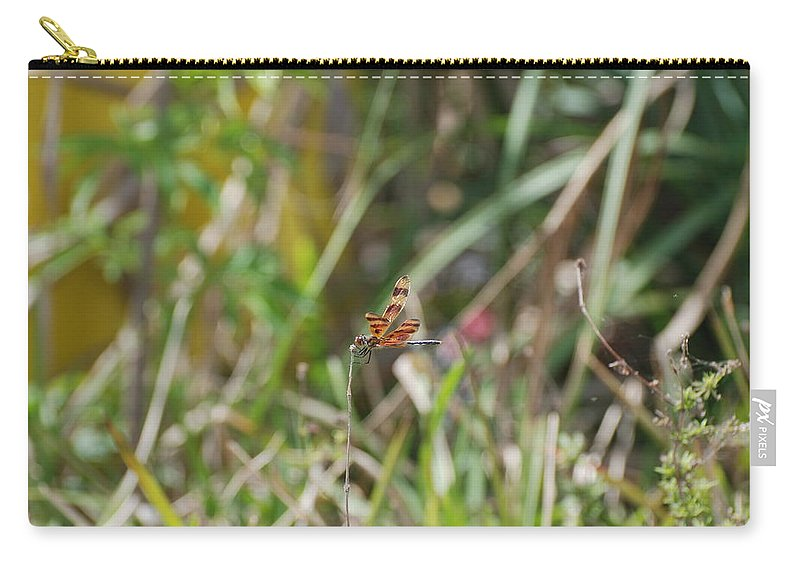 Nature Carry-all Pouch featuring the photograph Dragon Fly by Rob Hans