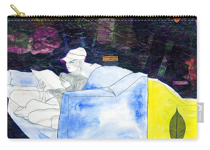 Inspirational Carry-all Pouch featuring the painting Dragon's Diary by Miko At The Love Art Shop