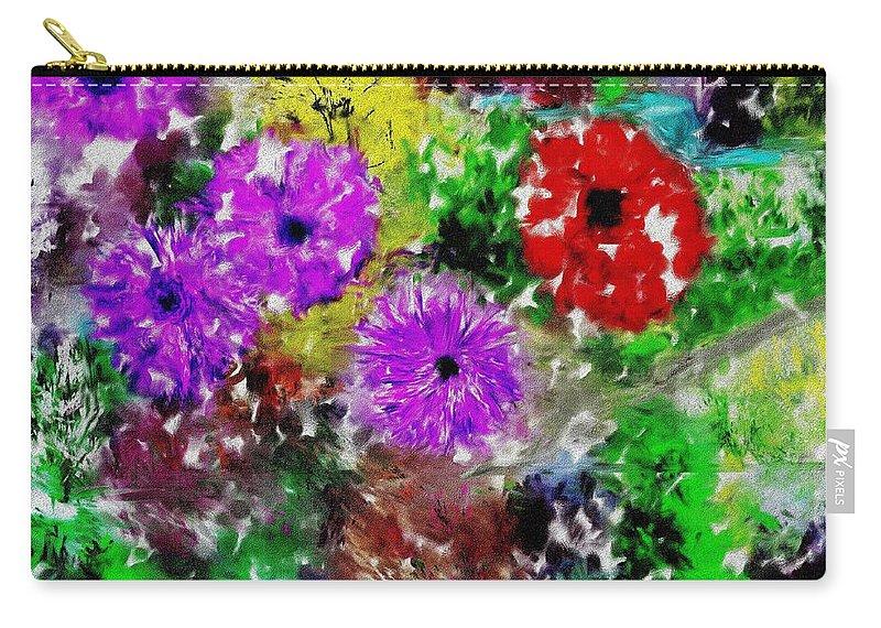 Landscape Carry-all Pouch featuring the digital art Dream Garden II by David Lane