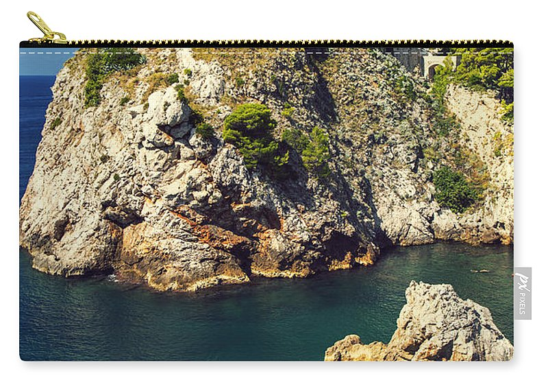 Adriatic Carry-all Pouch featuring the photograph Dubrovnik King's Landing Fortress by Sandra Rugina