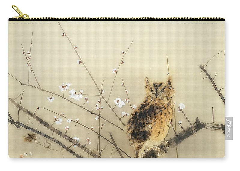 Painting Carry-all Pouch featuring the painting Early Plum Blossoms by Nishimura Goun