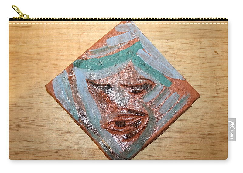 Jesus Carry-all Pouch featuring the ceramic art East - Tile by Gloria Ssali