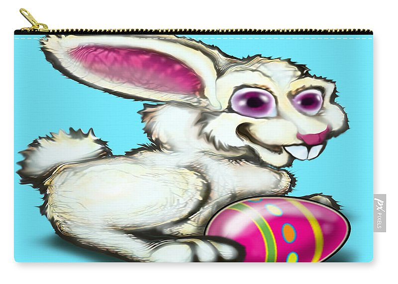 Easter Carry-all Pouch featuring the digital art Easter Bunny by Kevin Middleton