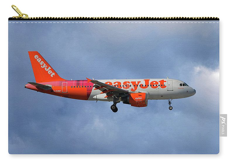 Easyjet Carry-all Pouch featuring the photograph Easyjet Tartan Livery Airbus A319-111 by Smart Aviation