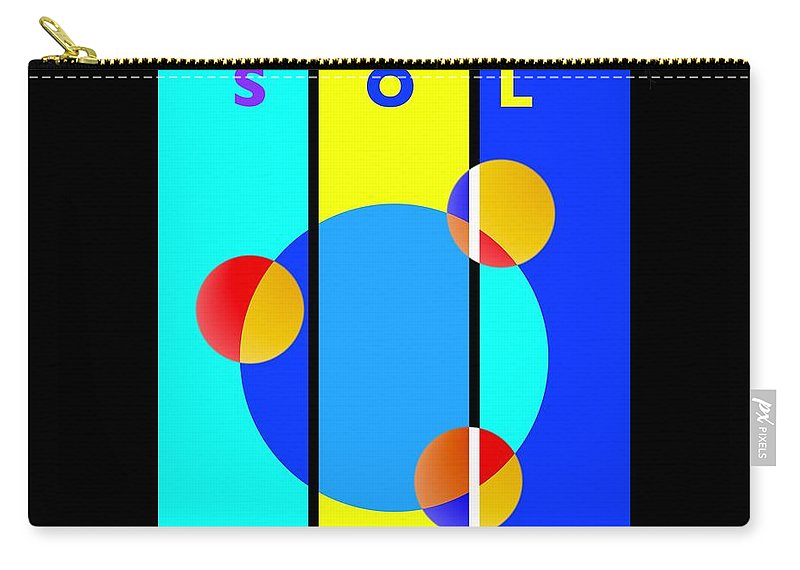 Primary Colors Carry-all Pouch featuring the painting Eclipse by Charles Stuart