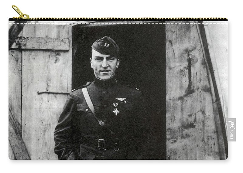 Aviation Carry-all Pouch featuring the photograph Eddie Rickenbacker, Wwi American Flying by Science Source