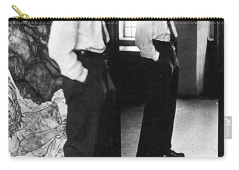 1915 Carry-all Pouch featuring the photograph Egon Schiele (1890-1918) by Granger