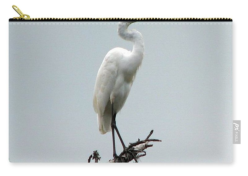 Egret Carry-all Pouch featuring the photograph Egret by J M Farris Photography
