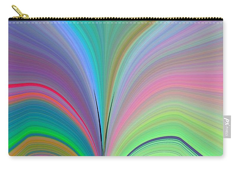 Flower Carry-all Pouch featuring the digital art Elation by Tim Allen