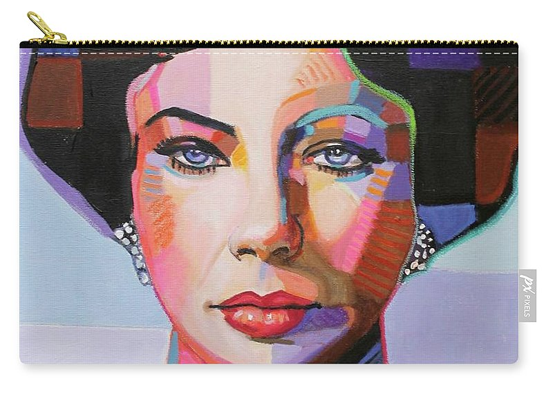Elizabeth Taylor Carry-all Pouch featuring the painting Elizabeth Taylor by Venus