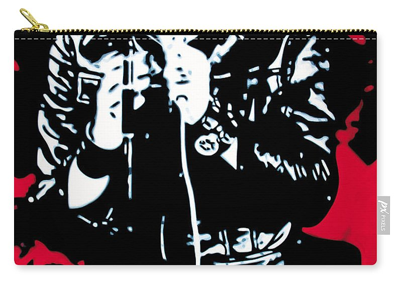 Elvis Presley Carry-all Pouch featuring the painting Elvis by Luis Ludzska