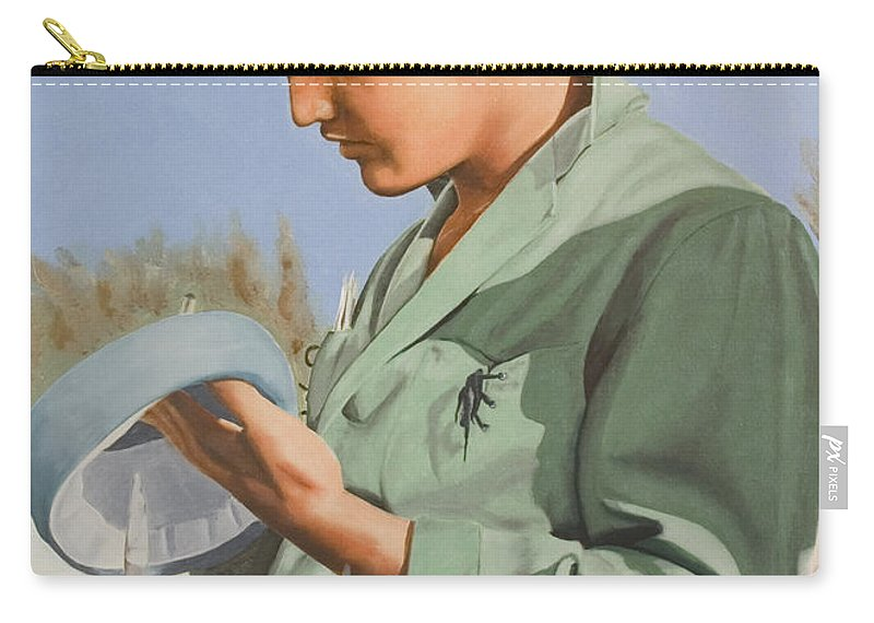 Singer Carry-all Pouch featuring the painting Elvis Presley by Rob De Vries