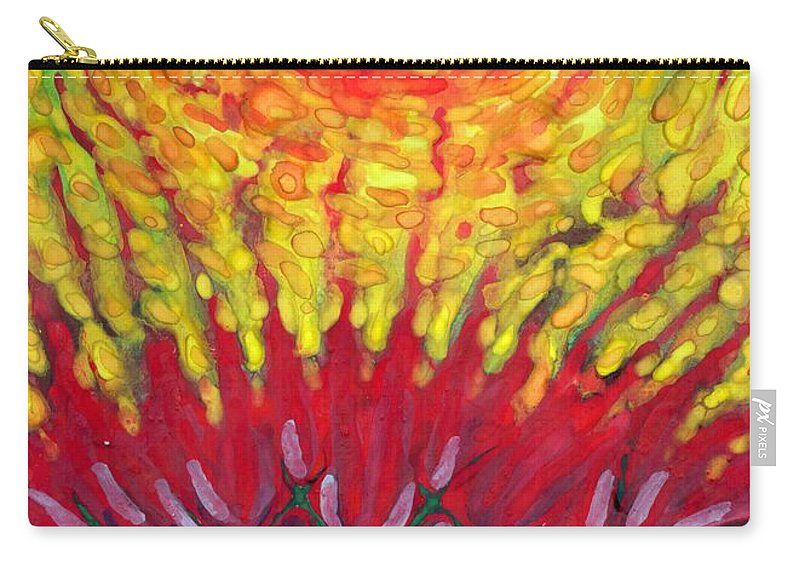 Colour Carry-all Pouch featuring the painting Energy by Wojtek Kowalski