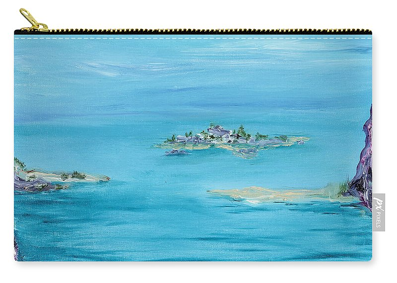 Ethereal Carry-all Pouch featuring the painting Ethereal by Regina Valluzzi