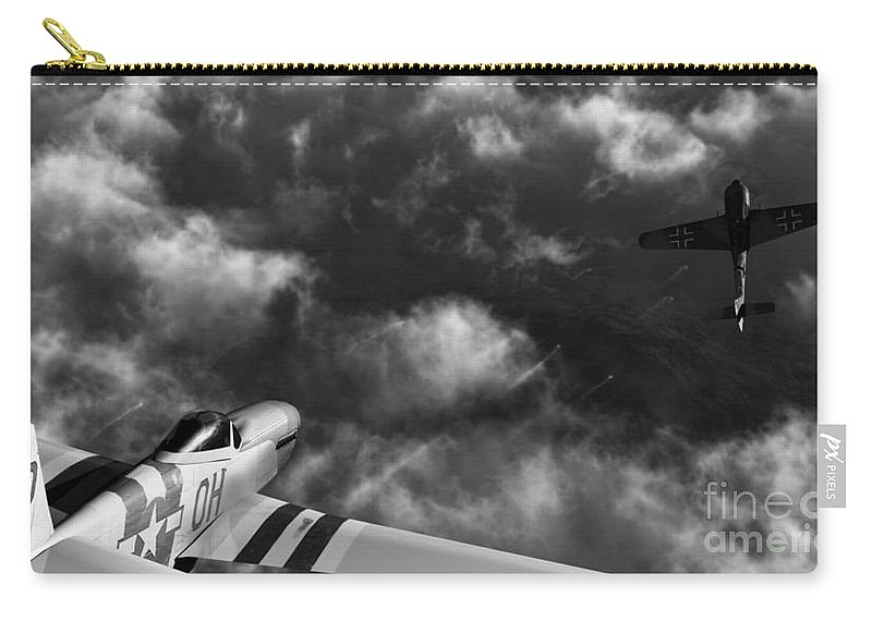 Warbirds Carry-all Pouch featuring the digital art Evade by Richard Rizzo