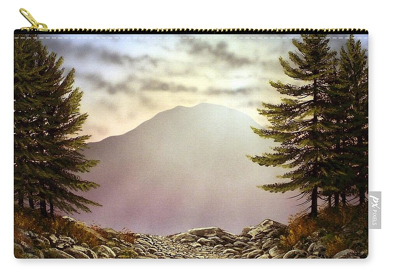 Mountains Carry-all Pouch featuring the painting Evening Trail by Frank Wilson