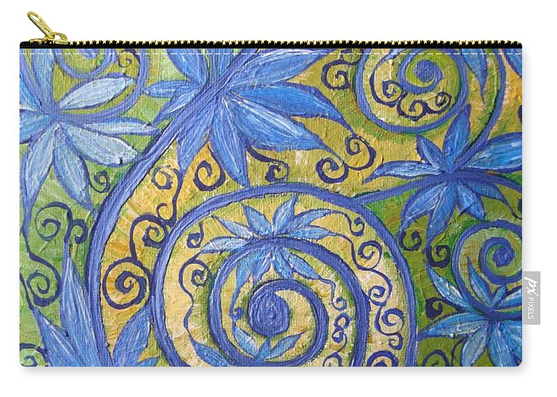 Spiritual Carry-all Pouch featuring the painting Expansion by Joanna Pilatowicz