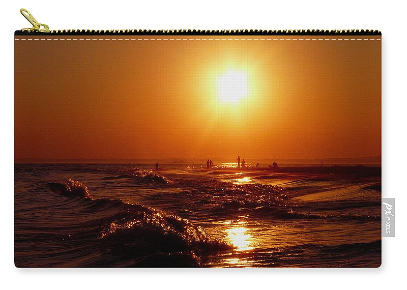 Sunset Carry-all Pouch featuring the photograph Extreme Blazing Sun by Kendall Eutemey