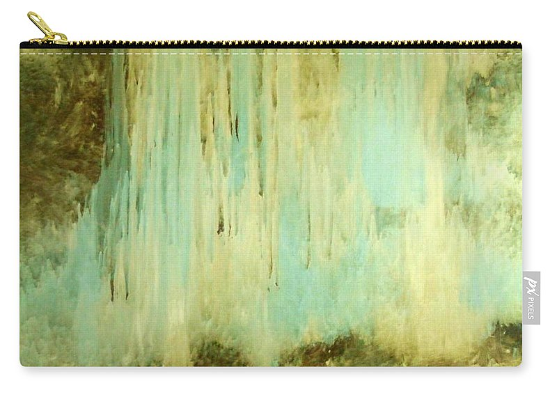 Waterfall Carry-all Pouch featuring the painting Falling Water Series by Dale Wilhite