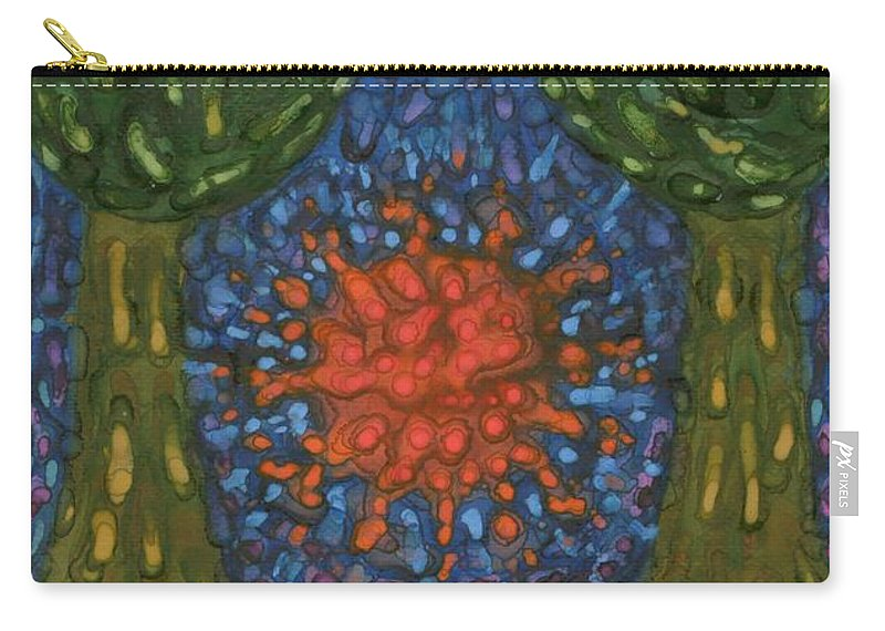 Colour Carry-all Pouch featuring the painting Farewell by Wojtek Kowalski