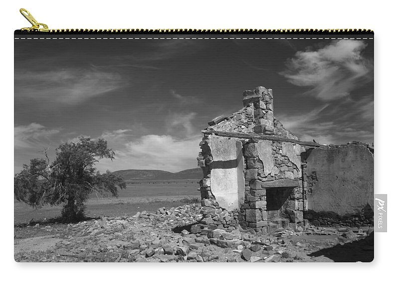 Cottage Carry-all Pouch featuring the photograph Farmhouse Cottage Ruin Flinders Ranges South Australia by Ralph A Ledergerber-Photography