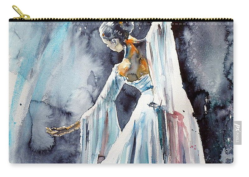 Feeling Carry-all Pouch featuring the painting Feeling by Kovacs Anna Brigitta