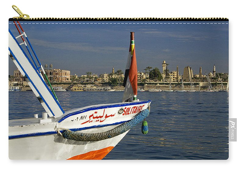 Egypt Carry-all Pouch featuring the photograph Felucca On The Nile by Michele Burgess