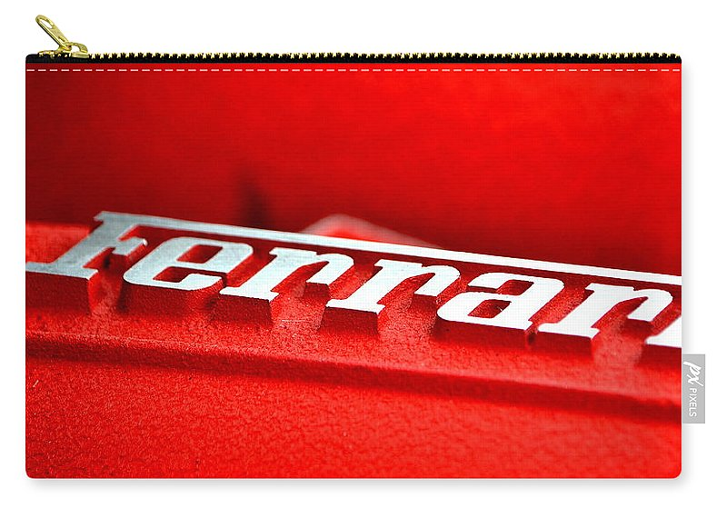Carry-all Pouch featuring the photograph Ferrari Intake by Dean Ferreira