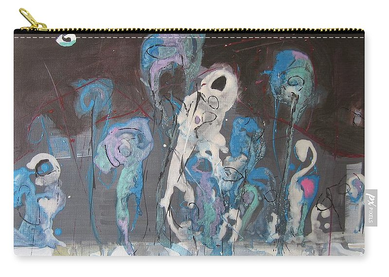 Fiddleheads Paintings Carry-all Pouch featuring the painting Fiddleheads 3 by Seon-Jeong Kim