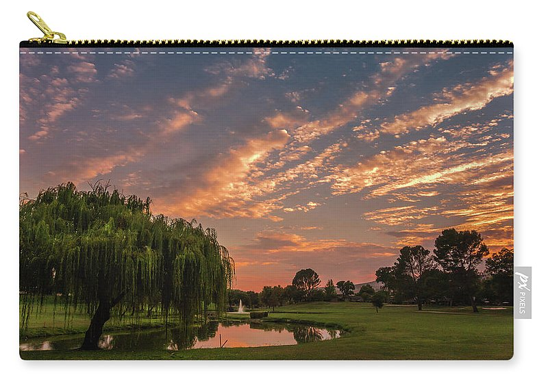 Landscape Carry-all Pouch featuring the photograph Finale by Laura Macky