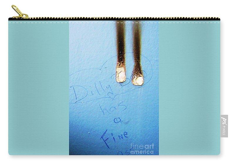 Photograph Fine Ass Blue Carry-all Pouch featuring the photograph Fine Ass by Seon-Jeong Kim