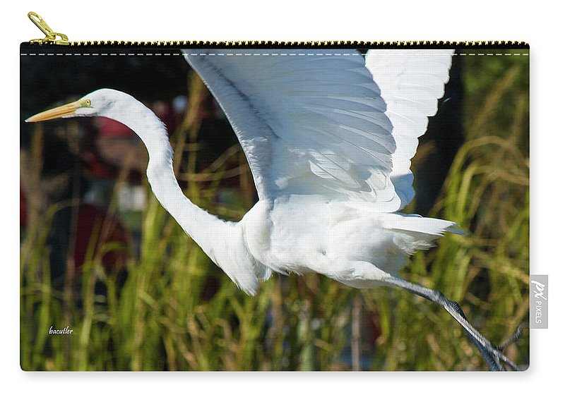 Wildlife Carry-all Pouch featuring the photograph Flight by Betsy Knapp