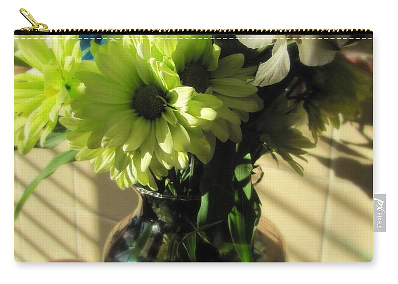 Flowers Carry-all Pouch featuring the photograph Floral Bouquet 2 by Anita Burgermeister