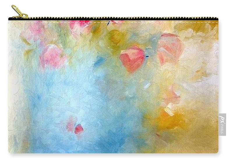Roses Carry-all Pouch featuring the painting Floral Reflections by Jack Diamond