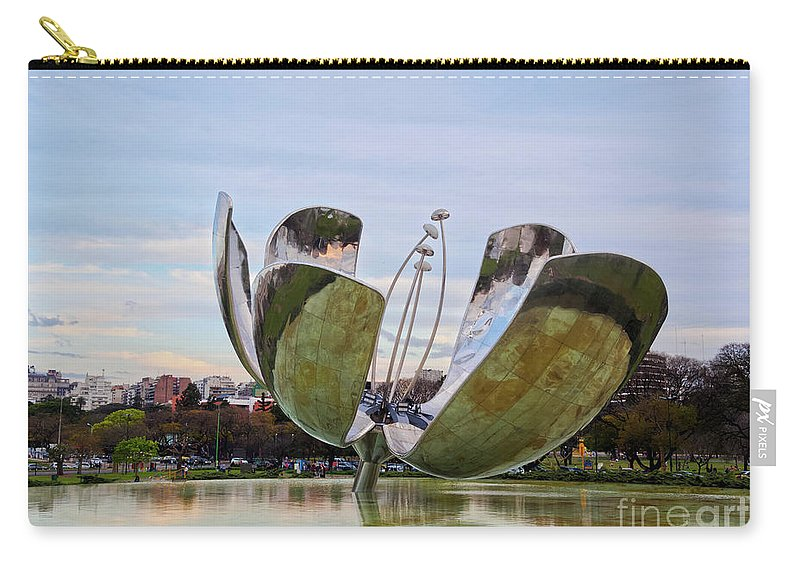 Argentina Carry-all Pouch featuring the photograph Floralis Generica, Buenos Aires, Argentina by Karol Kozlowski