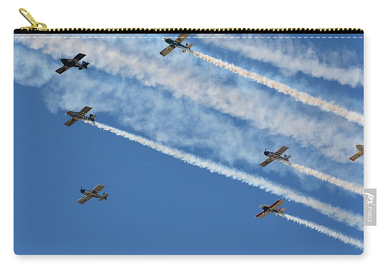 Planes Carry-all Pouch featuring the photograph Fly By by Robert Lowe