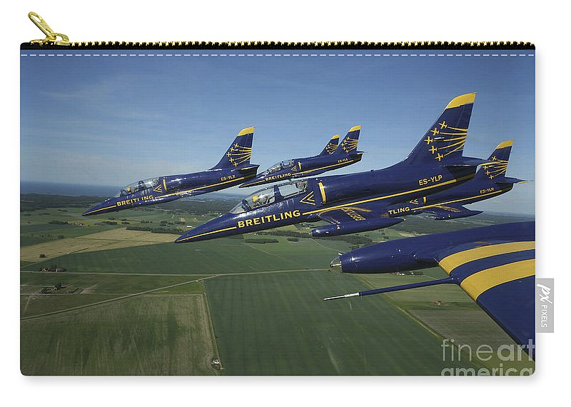 Transportation Carry-all Pouch featuring the photograph Flying With The Aero L-39 Albatros by Daniel Karlsson